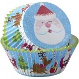 Capsulas cupcakes papa Noel 75un.