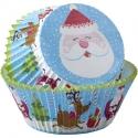 Capsulas cupcakes papa Noel