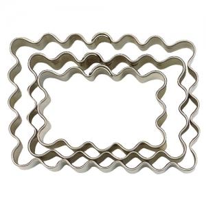 Cortador Rectangular Ondulado 6.5 x 4.5 cm