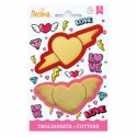 Set 2 cortadores San Valentín Decora