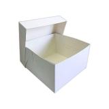 Caja para tartas blanca 25x25 cm extrafuerte